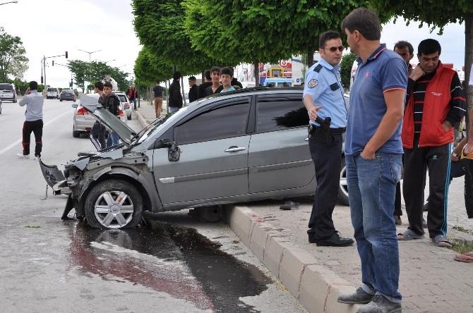 Yozgat'ta Otomobil Şarampole Uçtu: 4 Yaralı