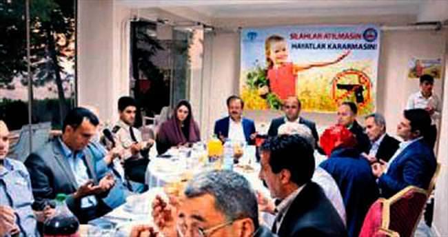 Haymana'da 'Silaha Hayır' kampanyası