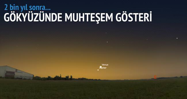 Gökyüzünde Venüs ve Jüpiter gösterisi
