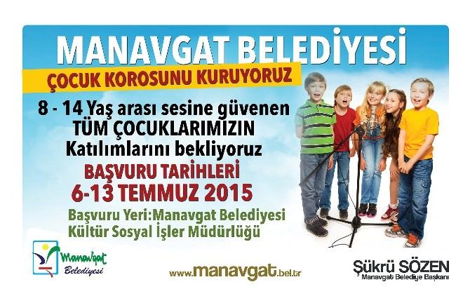 Manavgat Belediyesi Çocuk Korosu Kuruluyor