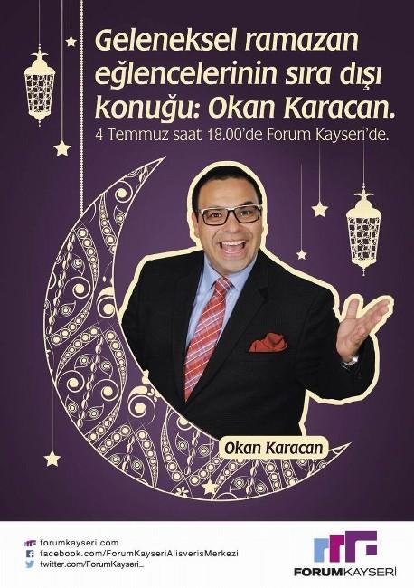 OKAN Karacan Kahkaha Dolu Gösterisiyle Forum Kayseri'de