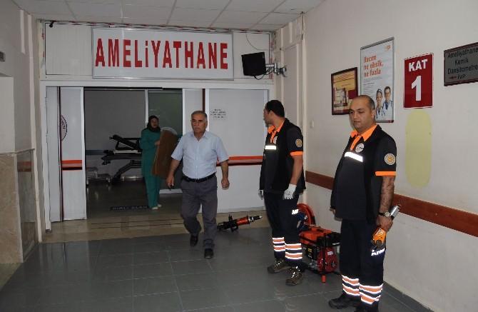 Yozgat'ta İnşaattan Düşen İşçinin Ameliyatına Sivil Savunma Ekipleri Girdi