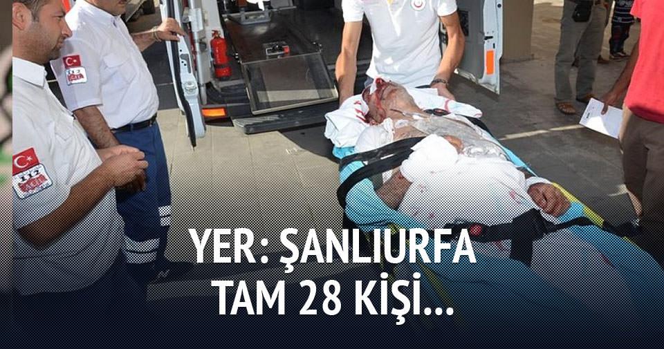 Kamyonet şarampole yuvarlandı: 28 yaralı!