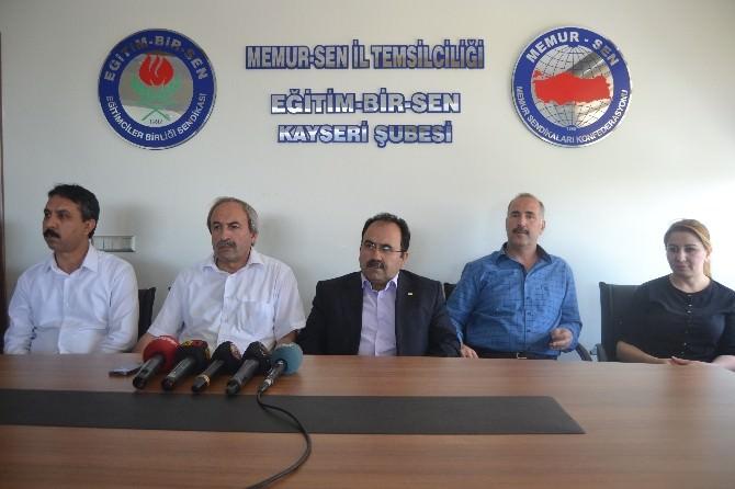 Eğitim Bir-sen Kayseri Şube Başkanlığına Seçilen Kalkan'dan Teşekkür Mesajı