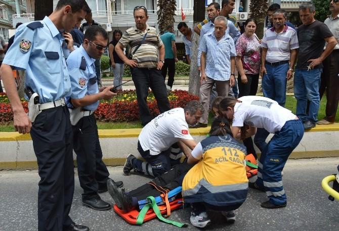 Motorize Polis Memuru Trafik Kazasında Yaralandı