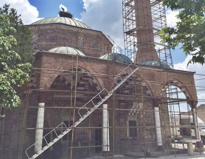 260 Yıllık Tarihi Sungurlu Ulu Camide Restorasyon Çalışmaları Sürüyor