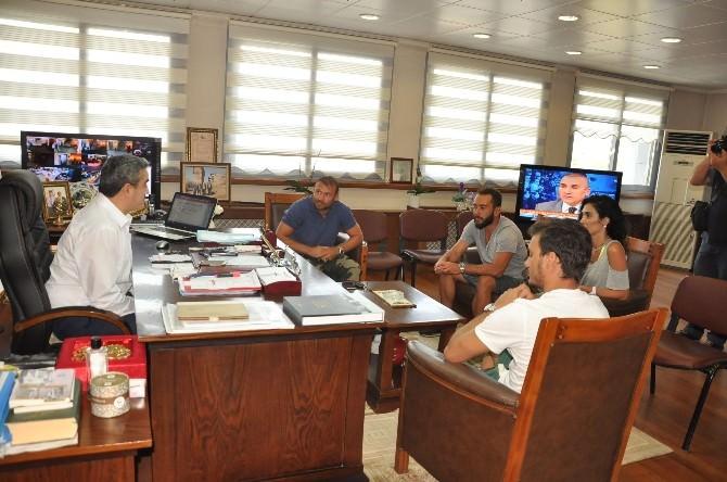 Ünlü Futbolculardan Başkan Alıcık'a Ziyaret