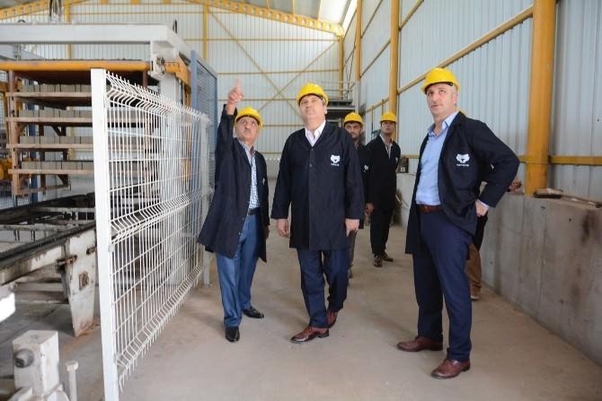Başkan Çerçi, Kilit Parke Üretim Tesislerini İnceledi