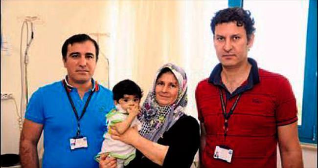 7 aylık bebeğe organ nakli gerçekleştirildi
