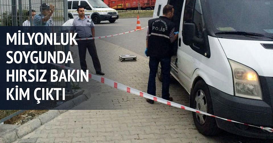 Milyonluk soygunda hırsız şoför çıktı