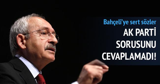 Kılıçdaroğlu'ndan, Devlet Bahçeli'ye sert sözler