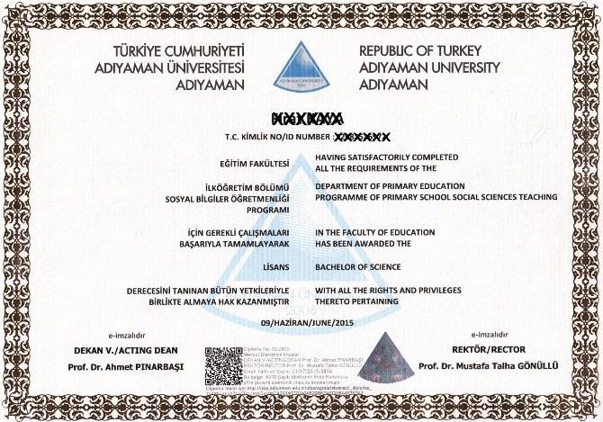 Adıyaman Üniversitesinde Elektronik İmzalı Diploma Dönemi