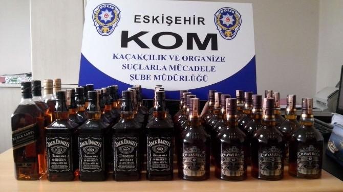 Eskişehir'de Kaçak Viski Ele Geçirildi