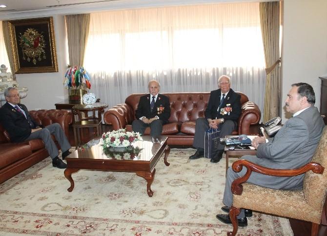 Bakan Eroğlu, Gazileri Kabul Etti