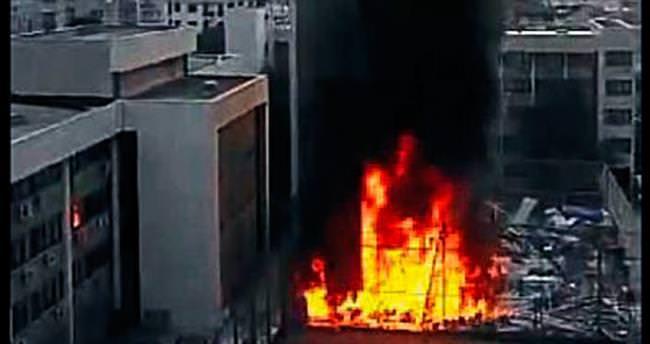 Hastanede çıkan yangın büyük paniğe sebep oldu