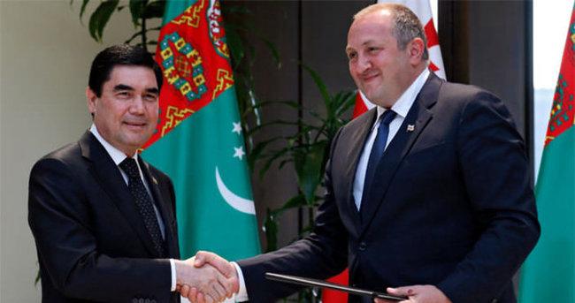 Türkmenistan Cumhurbaşkanı Berdimuhammedov Gürcistan'da