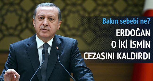 Erdoğan, iki hükümlünün cezasını kaldırdı