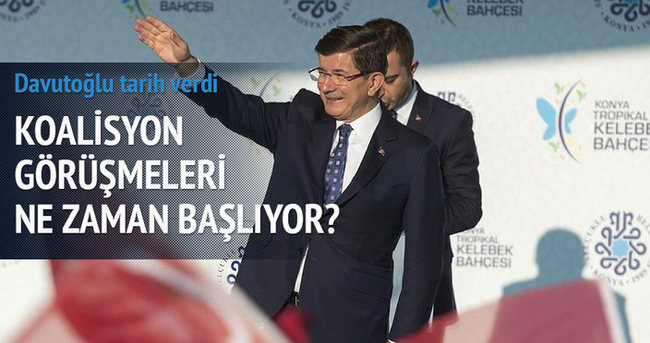 Başbakan Davutoğlu tarih verdi