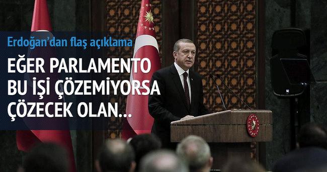 Cumhurbaşkanı Erdoğan: Hükümet kurulmazsa çözüm millet