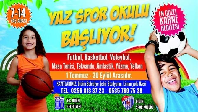 Didim'de Yaz Spor Okulları Açılıyor