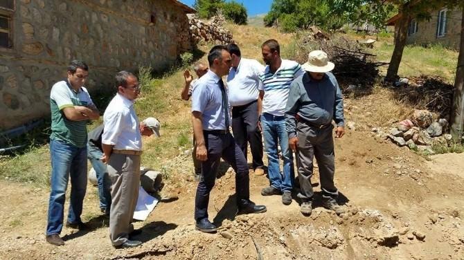 KASKİ, Nurhak'ta Kanalizasyon Çalışmalarına Devam Ediyor