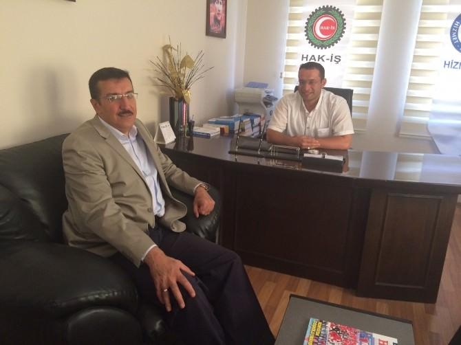 Milletvekili Tüfenkci'den Hak-iş'e Ziyaret