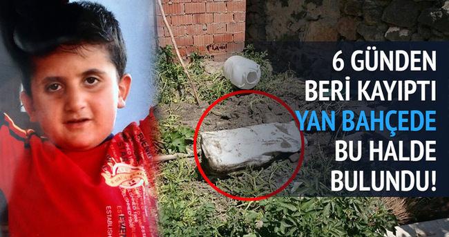 Kayıp çocuk bahçede gömülü bulundu!