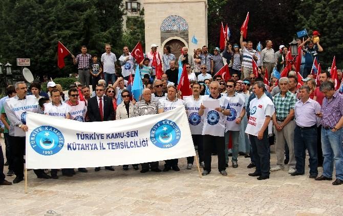 Kütahya Kamu-sen'den Doğu Türkistan'a Destek