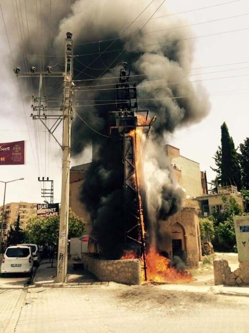 Trafoda Çıkan Yangın Paniğe Neden Oldu