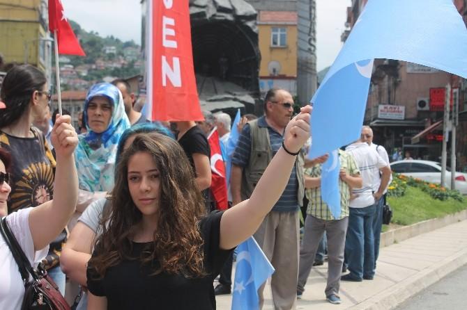 Türkiye Kamu-sen Çin Zulmü'nü Protesto Etti