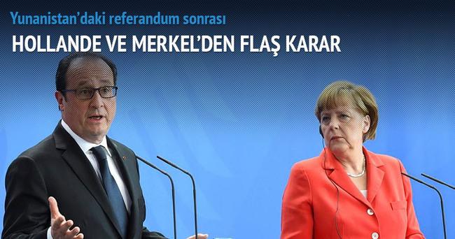 Referandum sonrası Hollande ve Merkel'den flaş karar