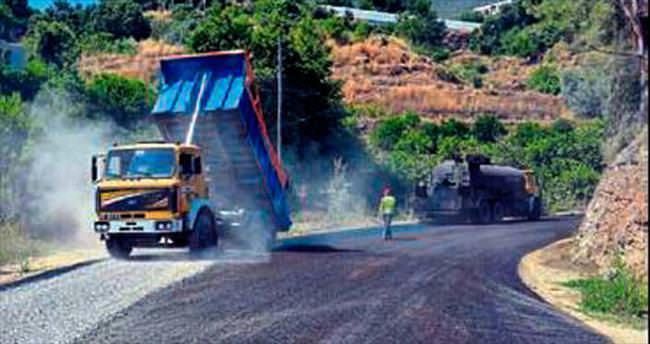 Aliefendi yoluna asfalt çalışması