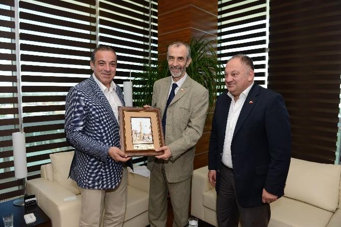 Büyükelçi Jazbez'den ATSO'ya Veda Ziyareti
