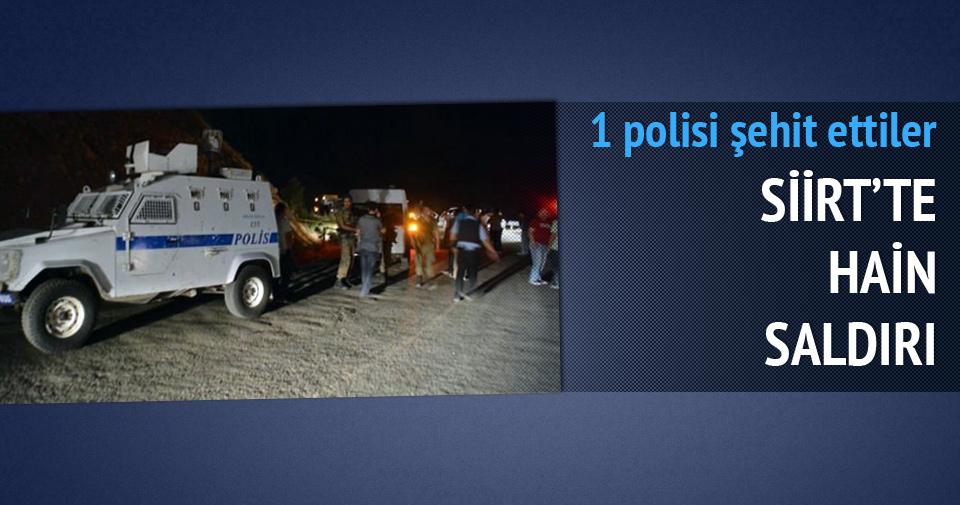 SİİRT'TE SİLAHLI SALDIRI! 1 POLİS ŞEHİT OLDU