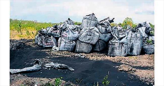 Araç lastiklerinden kömür yapmışlar!