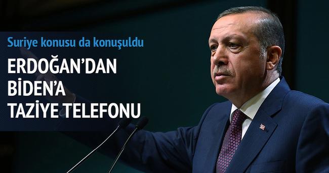 Erdoğan'dan Biden'a taziye telefonu