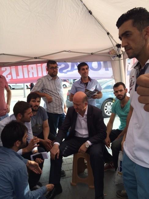 AK Parti İl Başkanı'na Çadırda Eylem Yapan Tofaş İşçilerine Destek
