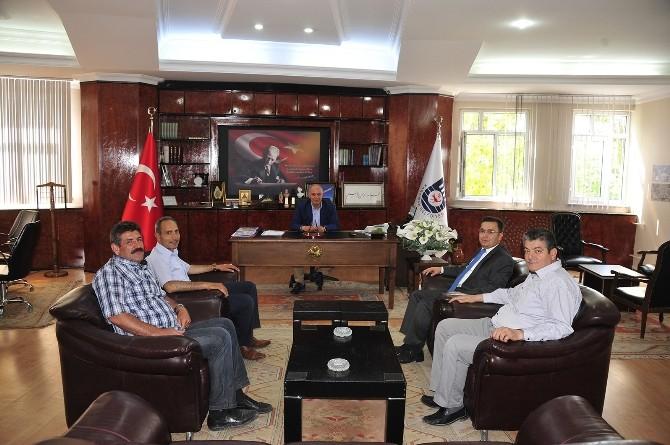 SGK İl Müdürü Fındık'tan Başkan Çalışkan'a Ziyaret