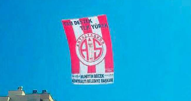 İlk destek bayrağı asıldı