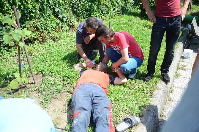 Tente Ustası 5 Metreden Düşerek Yaralandı