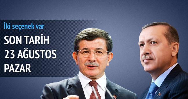 Başbakan Davutoğlu Erdoğan'la görüşüyor