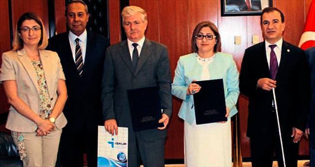 Gaziantep'te engelliler için meslek kursu açıldı