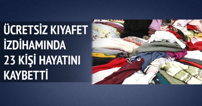 Ücretsiz kıyafet izdihama neden oldu: 23 Ölü