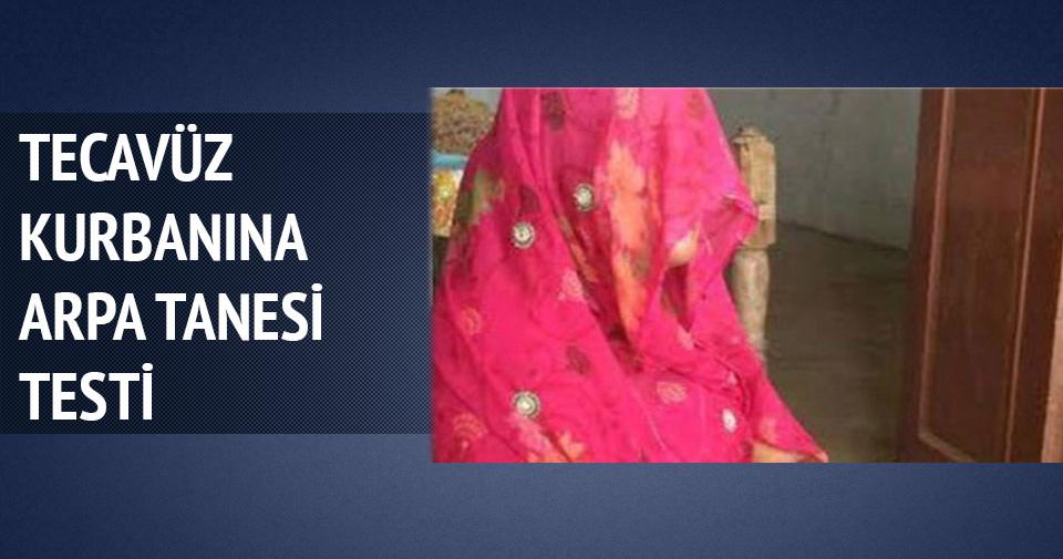 Hindistan'da tecavüz kurbanına 'arpa tanesi testi'