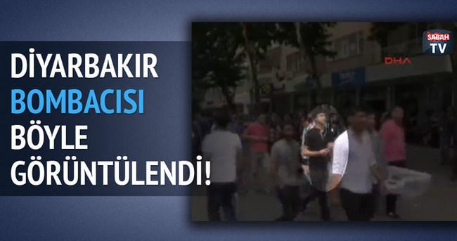 HDP'nin mitingini kana bulayan bombacı görüntülendi!