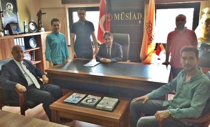 Genç MÜSİAD, Başkan Akdemir'e Gençlik Projelerini Anlattı