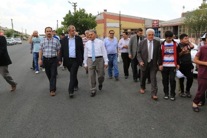 Başkan Büyükkılıç Ve Ekibinden Demirciler Sitesi Esnafına Ziyaret