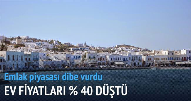Yunanistan'da ev fiyatları % 40 düştü