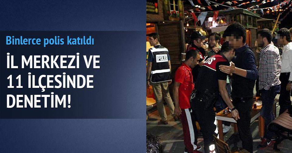 Kahramanmaraş'ta 2 bin polisle gece denetimi