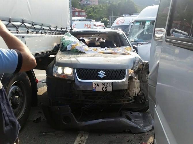 Giresun'da Kaza: 10 Yaralı